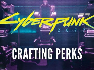 Crafting Perks